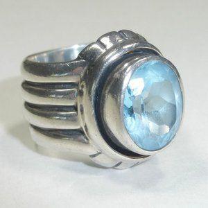 Silpada Aqua Blue Topaz Sterling Silver Ring 6